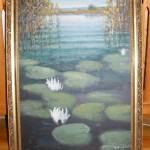 ks. M. Dubiel - Kwitnące lilie wodne na jeziorze [22]