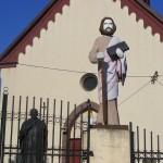 """ks. M. Dubiel - """"Rzeźba Św. Paweł"""" [Cieślin - brama główna kościoła]"""