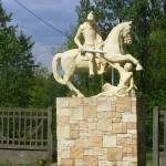"""ks. M. Dubiel - """"Rzeźba św. Marcin"""" [Poręba Dzierżna - rejon kościoła]"""