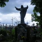 "ks. M. Dubiel - ""Rzeźba Chrystus Król"" [Poręba Dzierżna - cmentarz parafialny]"