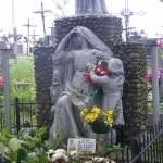 """ks. M. Dubiel - """"Rzeźba Chrystus Król"""" (dół) [Poręba Dzierżna - cmentarz parafialny]"""