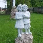 """ks. M. Dubiel - """"Rzeźba Dzieci"""" [Poręba Dzierżna - rejon plebanii]"""