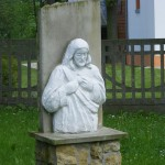 "ks. M. Dubiel - ""Rzeźba Pan Jezus 1"" [Poręba Dzierżna - rejon plebanii]"