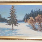 ks. M. Dubiel - Zimowy pejzaż [Cieślin]