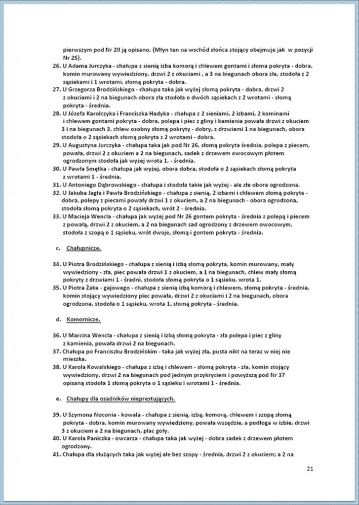 Protokół Zajęcia Dóbr Kwaśniów z przyległościami Cieślin i Hucisko na sprzedaż do przymusowego wywłaszczenia - 27.02/11.03.1837 r. (21)