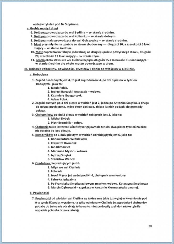 Protokół Zajęcia Dóbr Kwaśniów z przyległościami Cieślin i Hucisko na sprzedaż do przymusowego wywłaszczenia - 27.02/11.03.1837 r. (28)