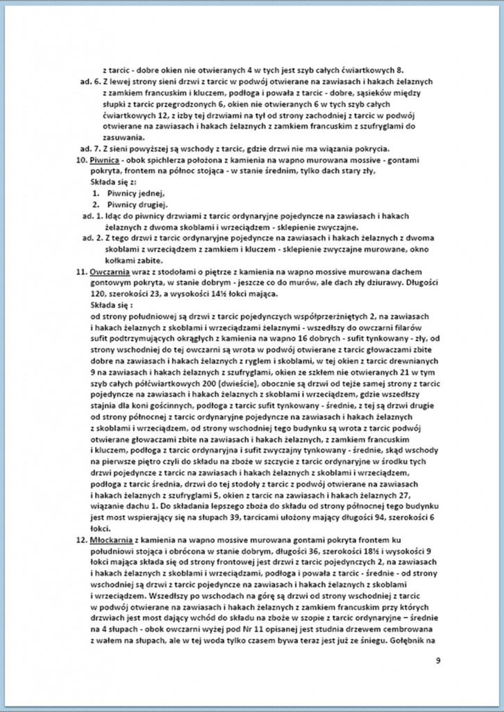 Protokół Zajęcia Dóbr Kwaśniów z przyległościami Cieślin i Hucisko na sprzedaż do przymusowego wywłaszczenia - 27.02./11.03.1837 r. (9)