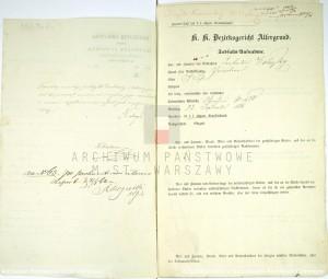 Akt zgonu Konstantego Leona Wolickiegp w dniu 23.09.1861 r. (zał. nr 2)