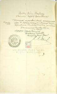Akt zgonu Konstantego Leona Wolickiegp w dniu 23.09.1861 r. (zał. nr 5)