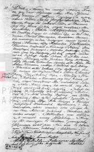 Akt małżeństwa Samuela Gostkowskiego i Emmy Mentzel 04.04.1836 r.