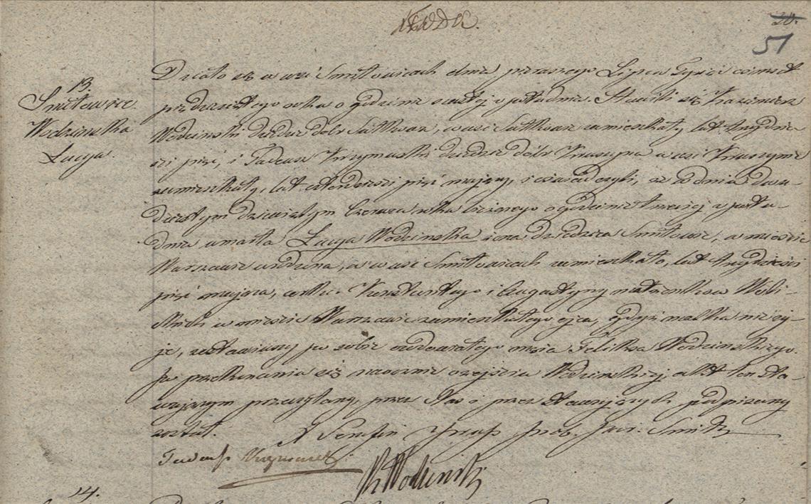 Akt zgonu Łucyi Wodzińskiej 29.06.1850 r.