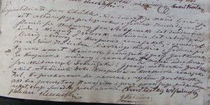Akt zgonu Kazimierza Franciszeka Ignacego Gostkowskiego 10.03.1845 r.