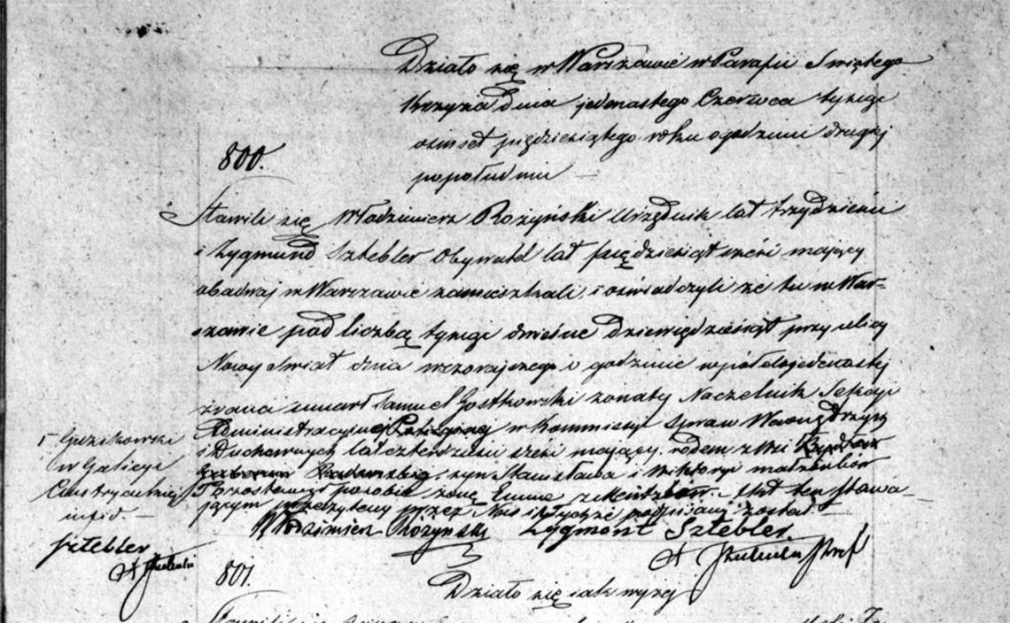 Akt zgonu Samuela Gostkowskiego 10.06.1850 r.