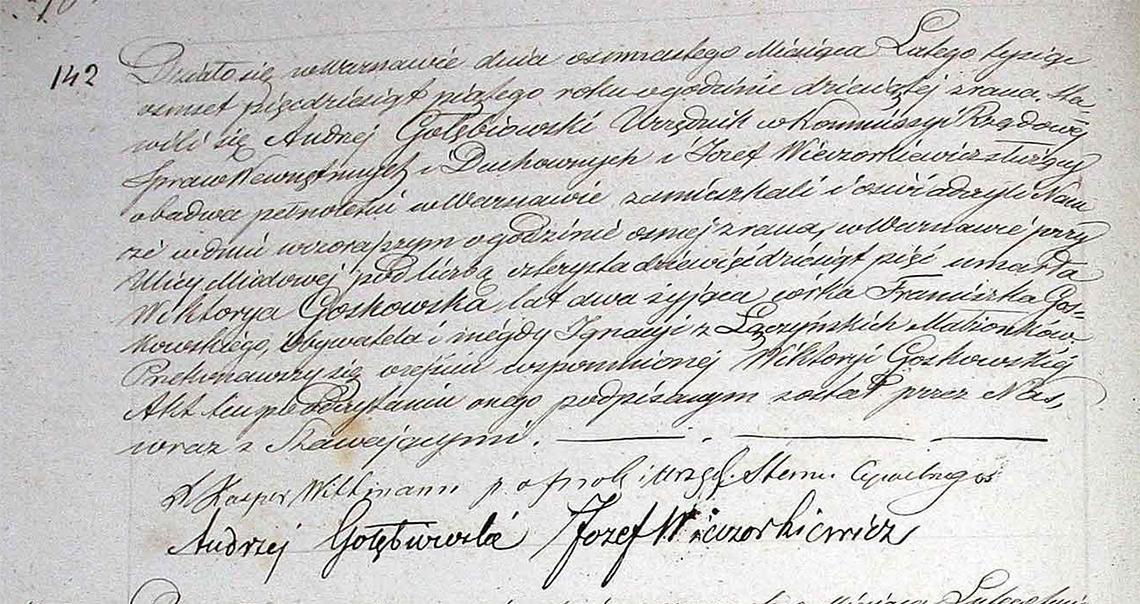 Akt zgonu Wiktoryi Gostkowskiej 17.02.1855 r.