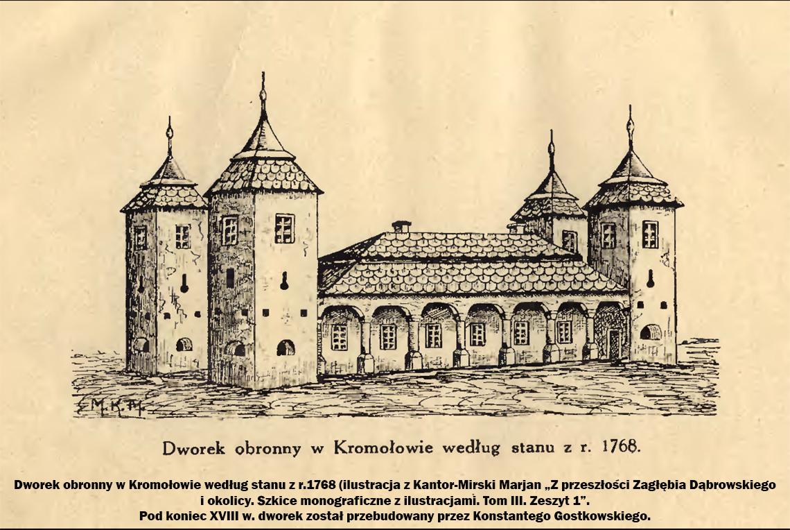 Dworek obronny w Kromołowie według stanu z r. 1768