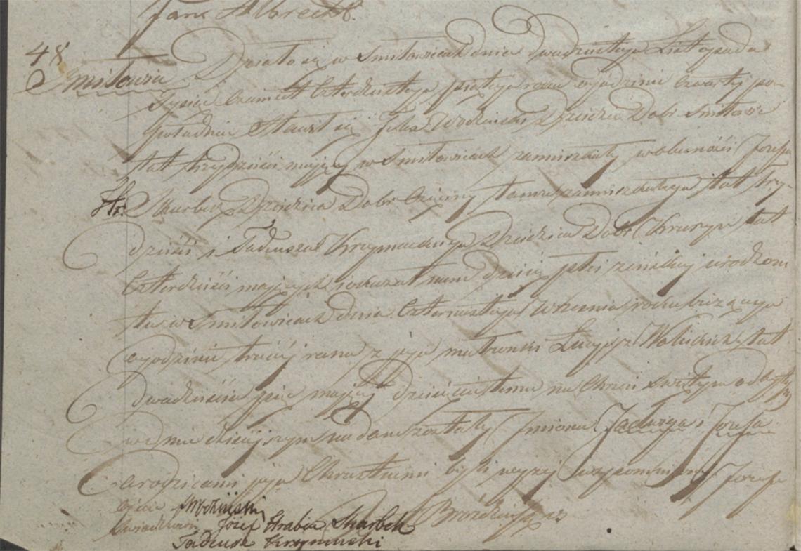 Akt stanu cywilnego urodzenia Jadwiga Józefa Wodzińska 14.09.1845 r.