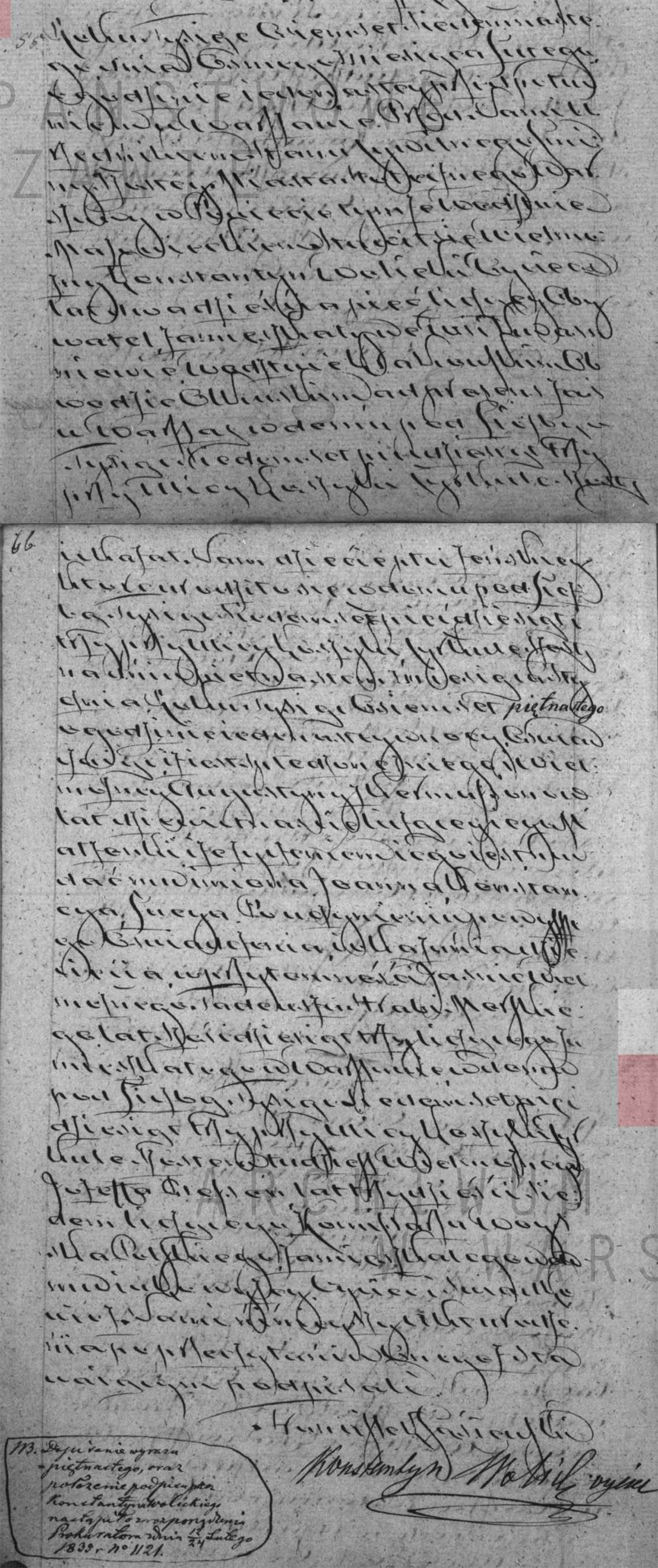 Akt stanu cywilnego urodzenia Joanna Konstancya Łucya Wolicka 15.01.1815 r.