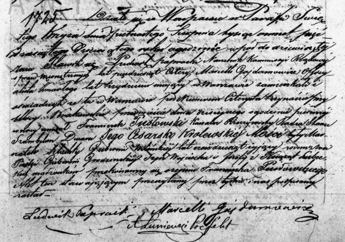 Akt stanu cywilnego zgonu Franciszek Pusłowski 15.08.1859 r.
