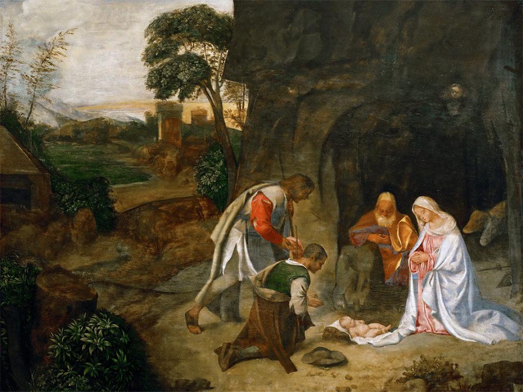 """Giorgione """"Pokłon pasterzy"""" (Kunsthistorisches Museum Wien)"""