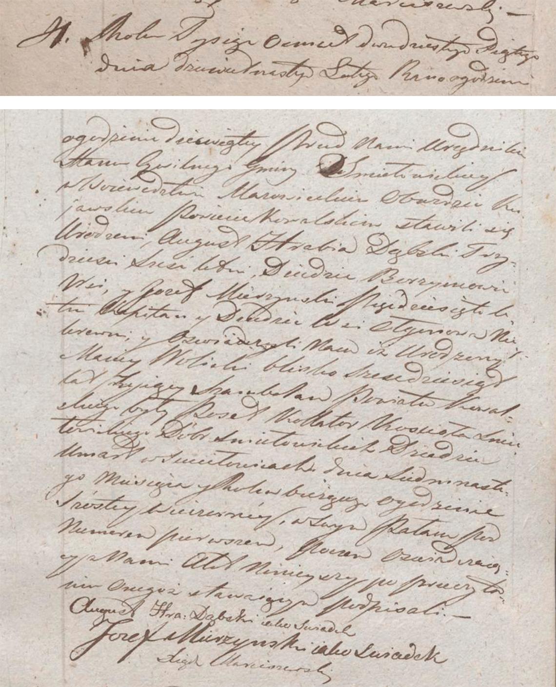 Akt stanu cywilnego zgonu Maciey Wolicki 17.02.1825 r.
