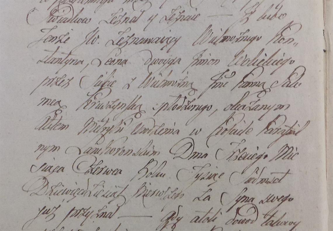 Akt notarialny Konstanty Leon Wolicki ur. 03.06.1791 r.