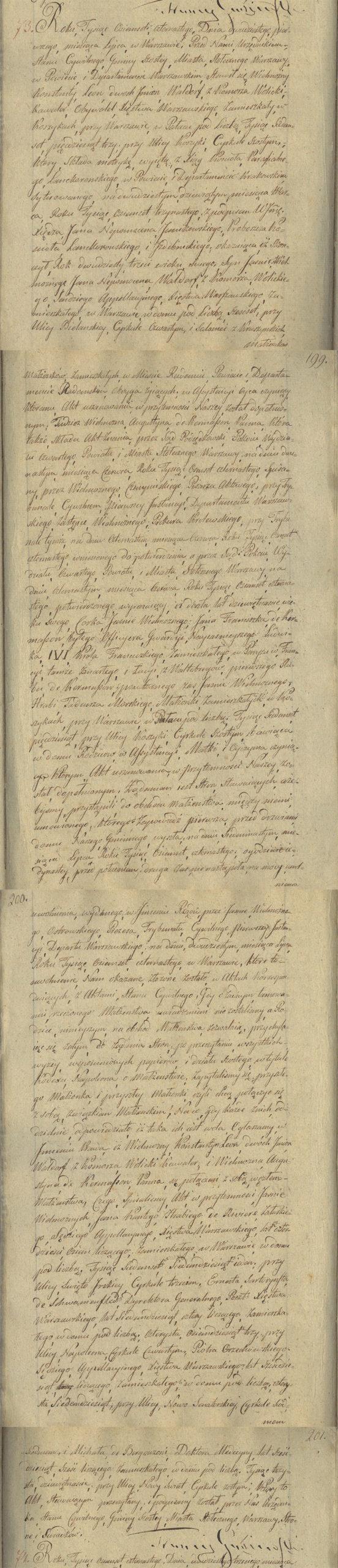 Akt stanu cywilnego małżeństwa Konstanty Leon Wolicki & Augustyna de Kermasson 21.07.1814 r.
