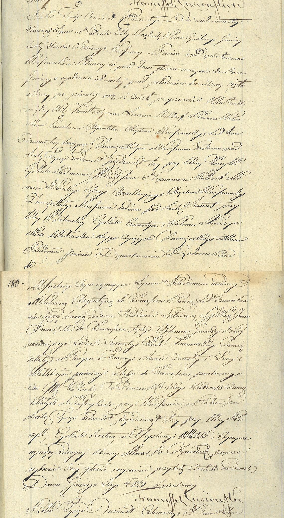 Akt zapowiedzi małżeństwa Konstantyn Leon Wolicki & Augustyna de Kermasson 14.07.1814 r.