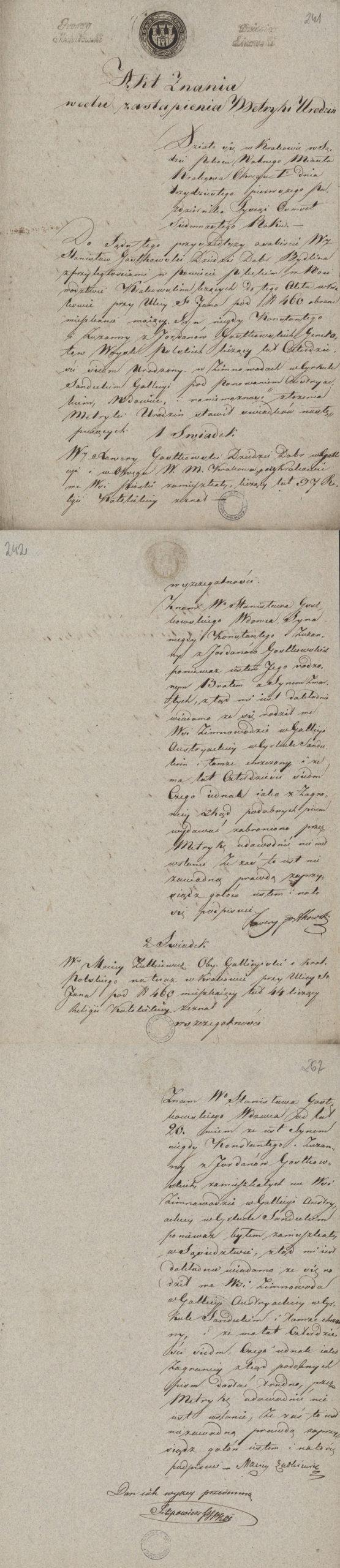 Alegaty do małżeństwa Stanisław Gostkowski & Martyna Apolonia Cieński (03.11.1817 r.) (1)