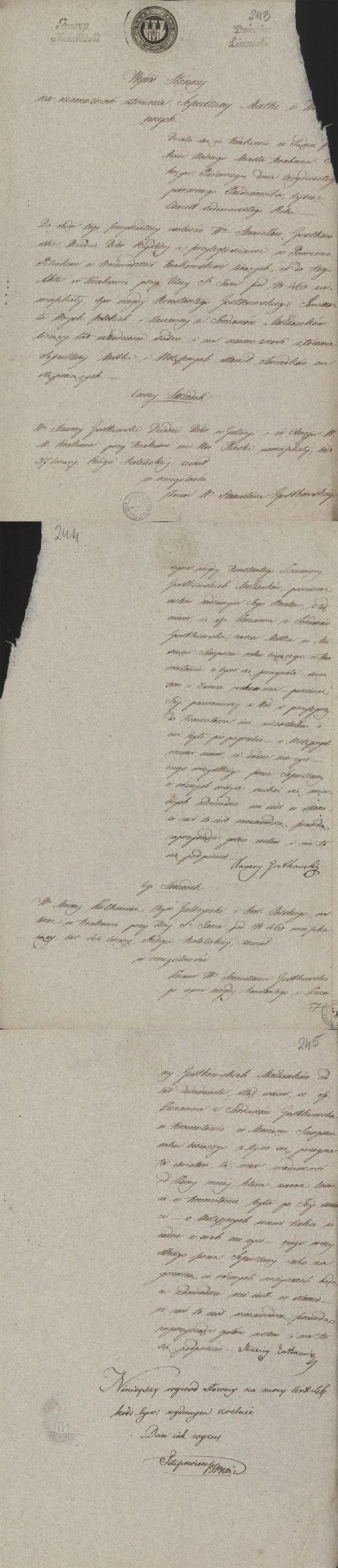 Alegaty do małżeństwa Stanisław Gostkowski & Martyna Apolonia Cieński (03.11.1817 r.) (2)