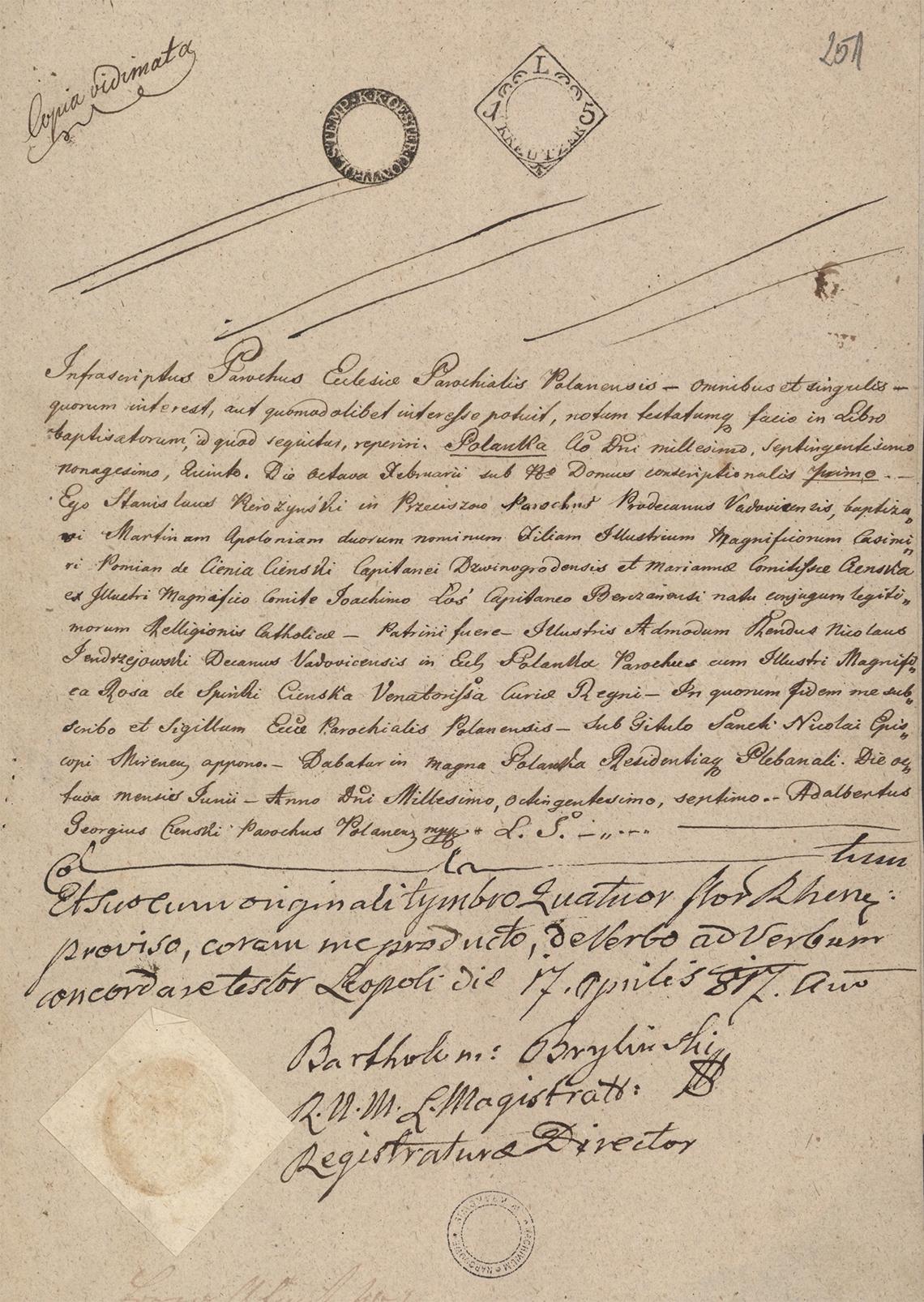 Alegaty do małżeństwa Stanisław Gostkowski & Martyna Apolonia Cieński (03.11.1817 r.) (4)