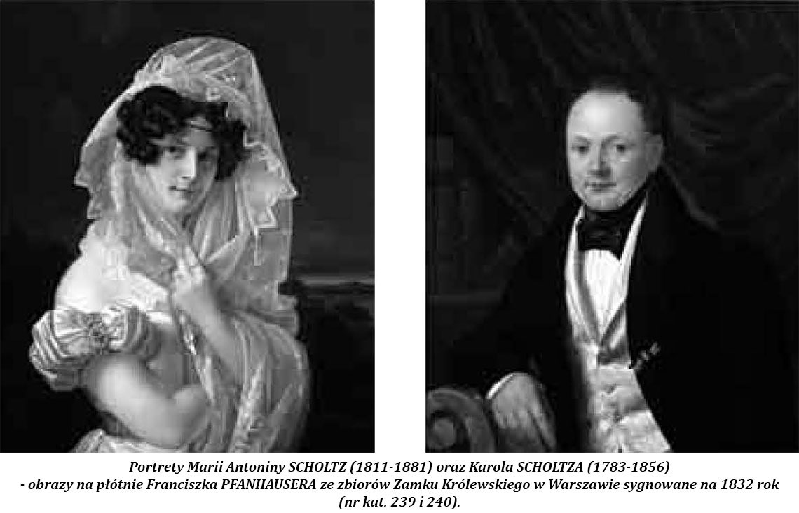 Portrety Marii Antoniny Scholtz oraz Karola Scholtza