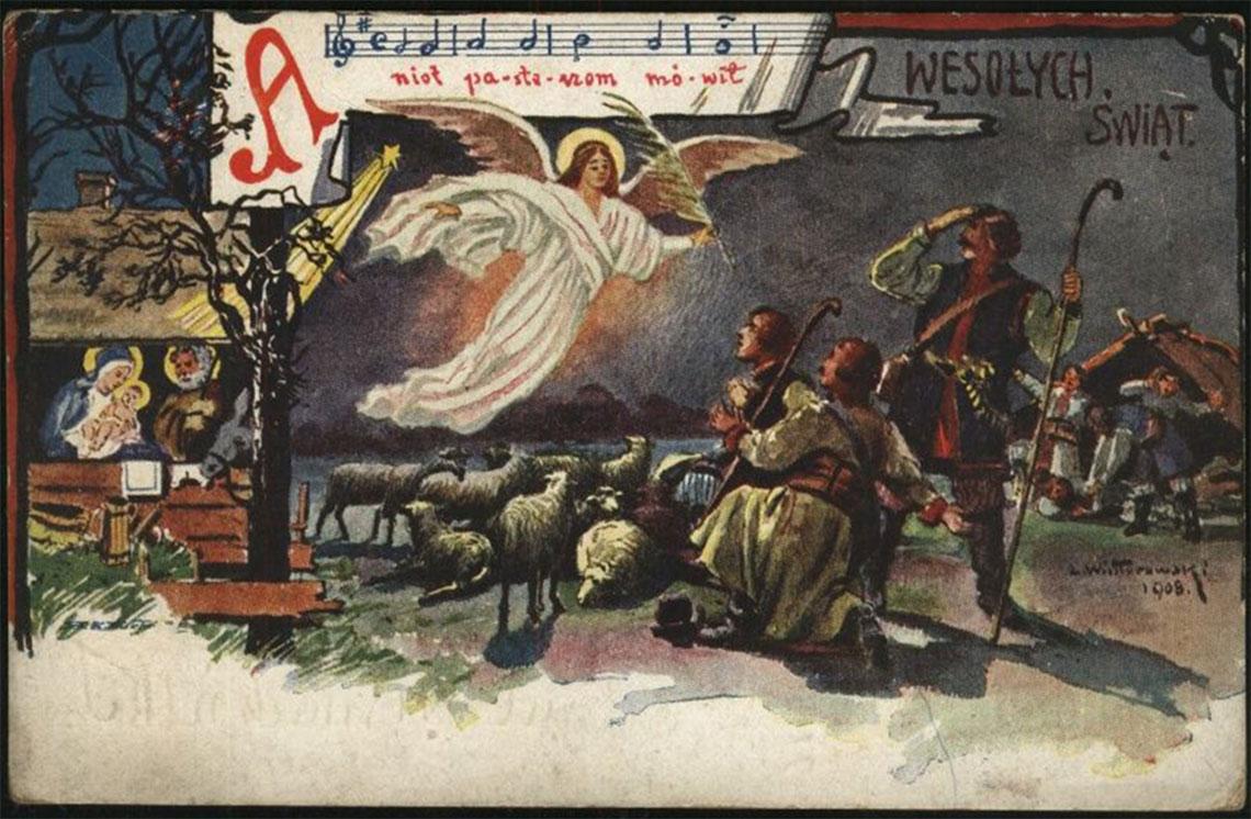 Stara pocztówka Bożonarodzeniowa