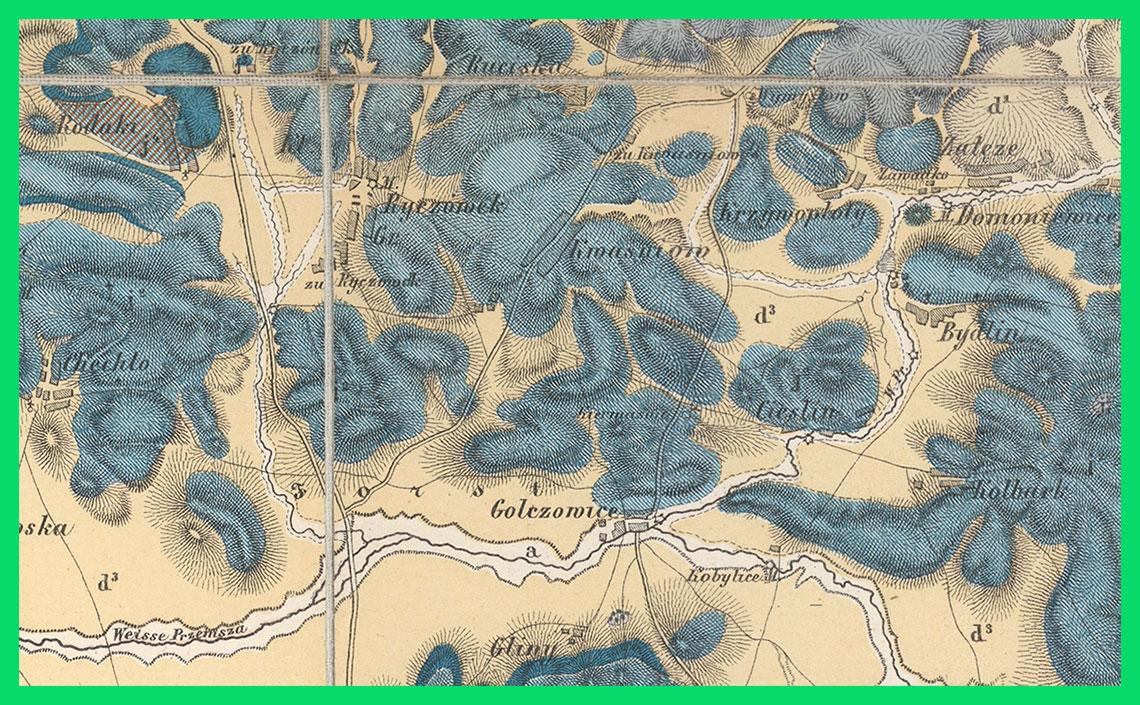 Geognostische Karte von Oberschlesien und den angrenzenden Gebieten. Section 9: Königshütte (1867)