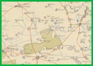 Mapa ogólna Olkusza i Góry Siewierskiej z inspekcją hut (1820)